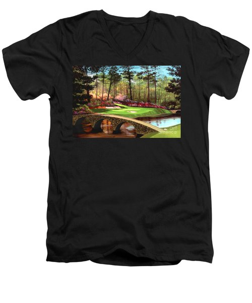 12th Hole At Augusta  Men's V-Neck T-Shirt
