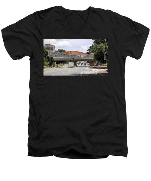 13th Street Rails To Trails Trestle Men's V-Neck T-Shirt