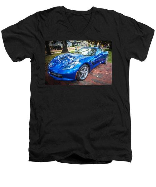 2014 Chevrolet Corvette C7 Men's V-Neck T-Shirt