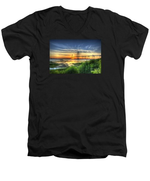 Lowcountry Sunset Men's V-Neck T-Shirt