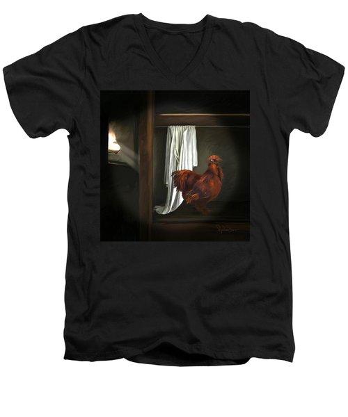 18. Red Rooster Men's V-Neck T-Shirt