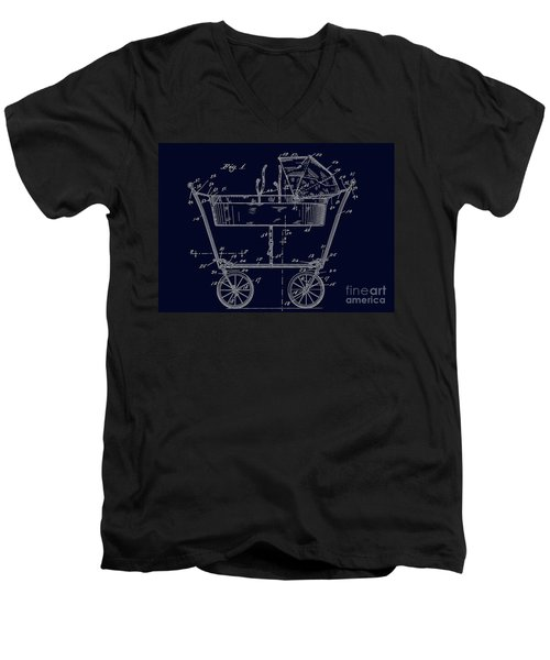 1922 Baby Carriage Patent Art Blueprint Men's V-Neck T-Shirt