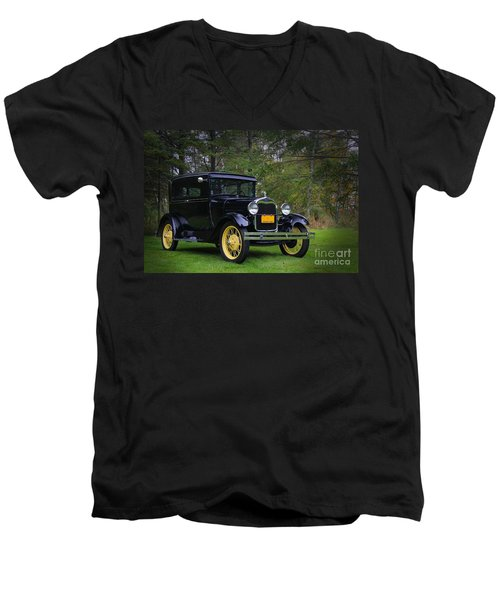 1928 Ford Model A Tudor Men's V-Neck T-Shirt