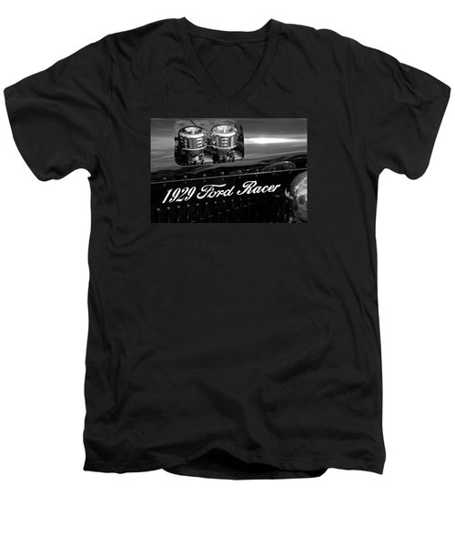 1929 Ford Racer Men's V-Neck T-Shirt by Janice Adomeit
