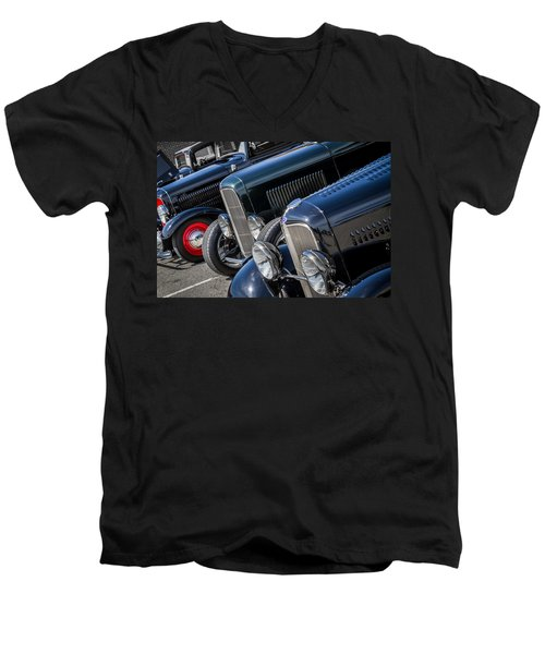 1932 Ford Roadster Coupes With Louvered Hoods Men's V-Neck T-Shirt