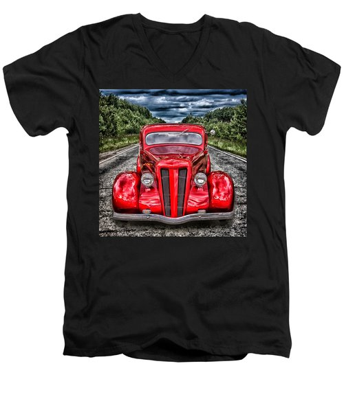 1935 Ford Window Coupe Men's V-Neck T-Shirt