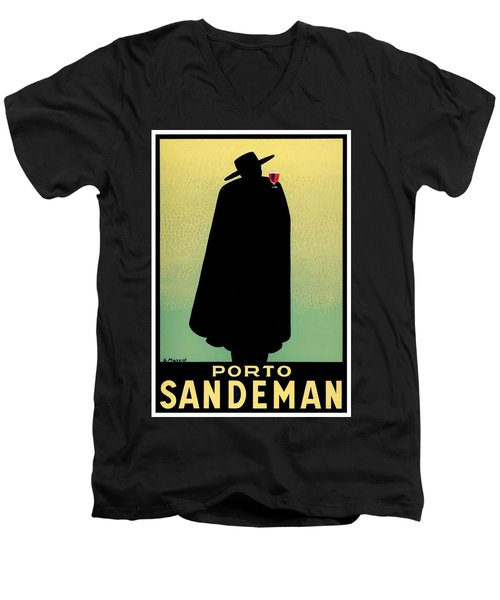 1938 - Porto Sandeman French Wines Advertisement Poster - Color Men's V-Neck T-Shirt