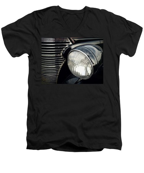 Men's V-Neck T-Shirt featuring the photograph 1938 Chevrolet Deluxe Sedan by Joseph Skompski