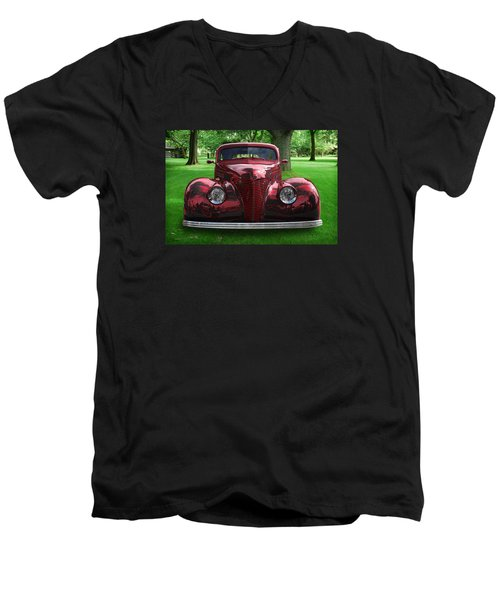 Men's V-Neck T-Shirt featuring the digital art 1938 Ford Coupe by Richard Farrington