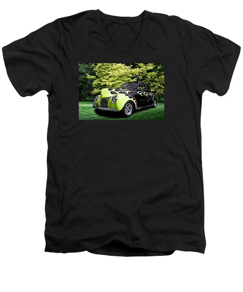 Men's V-Neck T-Shirt featuring the digital art 1939 Ford Coupe by Richard Farrington