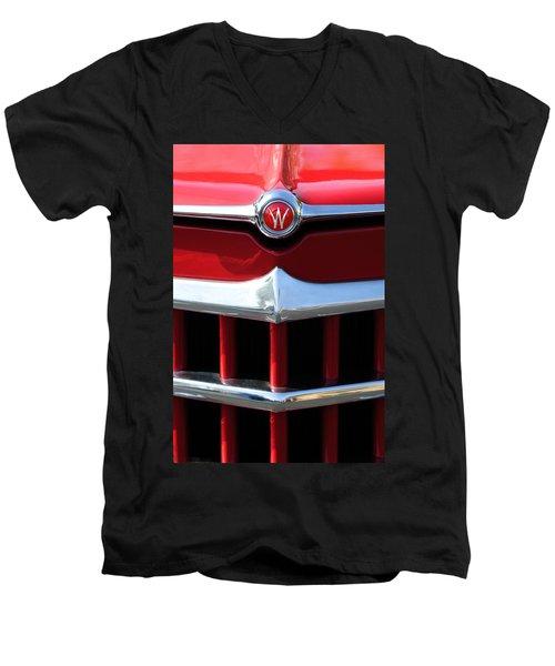 1950 Willys Overland Jeepster Hood Emblem Men's V-Neck T-Shirt