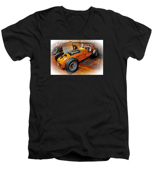 1952 Indy 500 Roadster Men's V-Neck T-Shirt