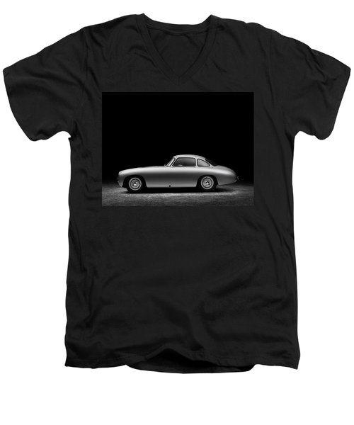 Men's V-Neck T-Shirt featuring the photograph 1952 Mercedes 300 Sl  by Gianfranco Weiss