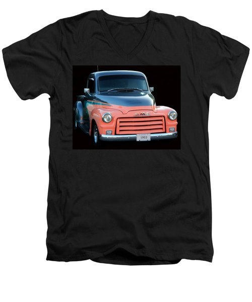1953 Gmc Pick-up Men's V-Neck T-Shirt