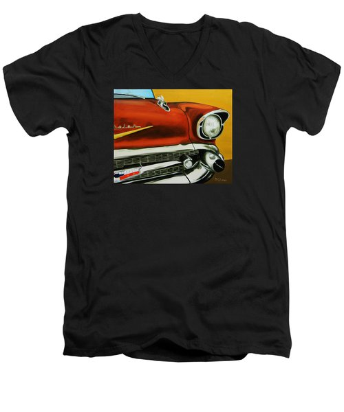 1957 Chevy - Coppertone Men's V-Neck T-Shirt