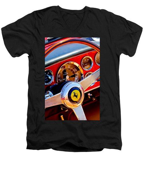 1960 Ferrari 250 Gt Cabriolet Pininfarina Series II Steering Wheel Emblem -1319c Men's V-Neck T-Shirt