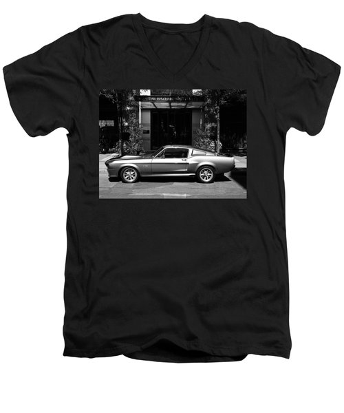 1967 Shelby Mustang B Men's V-Neck T-Shirt by Andrew Fare