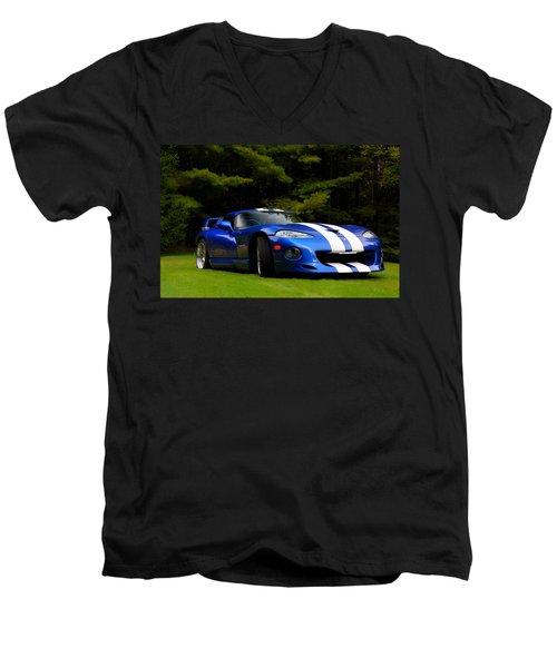 1997 Viper Hennessey Venom 650r Men's V-Neck T-Shirt