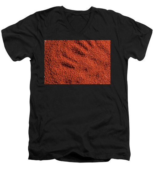 Abstract Texture - Red Men's V-Neck T-Shirt