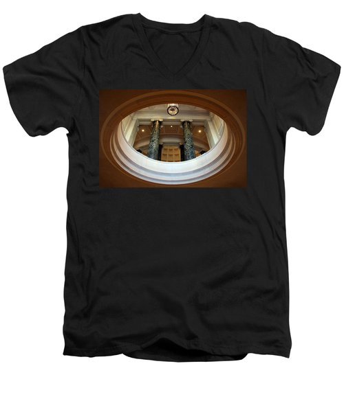 Men's V-Neck T-Shirt featuring the photograph An Oculus by Cora Wandel