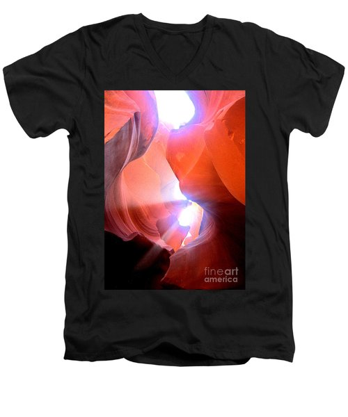 Antelope Canyon Light Symphony Men's V-Neck T-Shirt