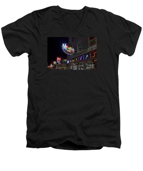 Beale Street Men's V-Neck T-Shirt