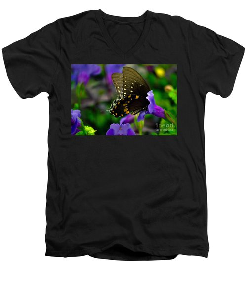 Black Swallowtail Men's V-Neck T-Shirt