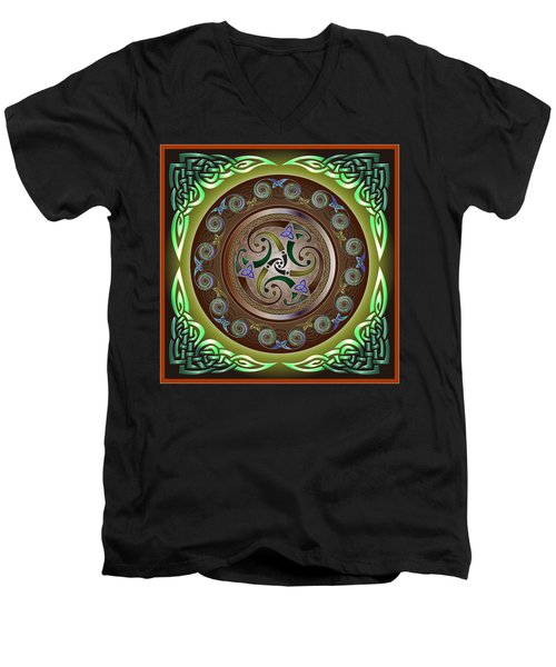 Celtic Pattern Men's V-Neck T-Shirt