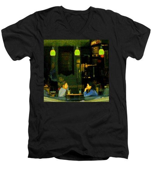 Coffee Talk Men's V-Neck T-Shirt