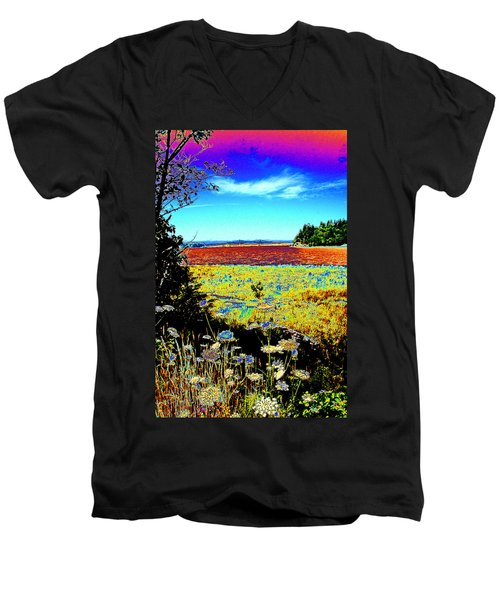 Coos Bay Wild Flowers Men's V-Neck T-Shirt
