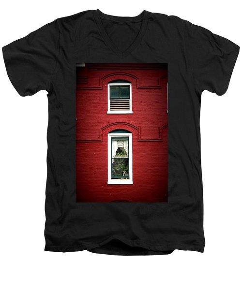 Doggie In The Window Men's V-Neck T-Shirt