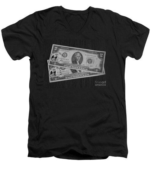 2 Dollars Men's V-Neck T-Shirt