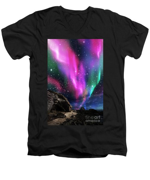 Dramatic Aurora Men's V-Neck T-Shirt