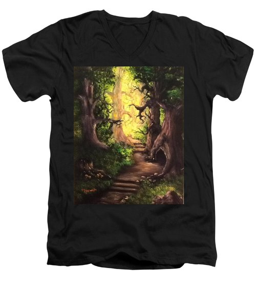 Druid Forest Men's V-Neck T-Shirt