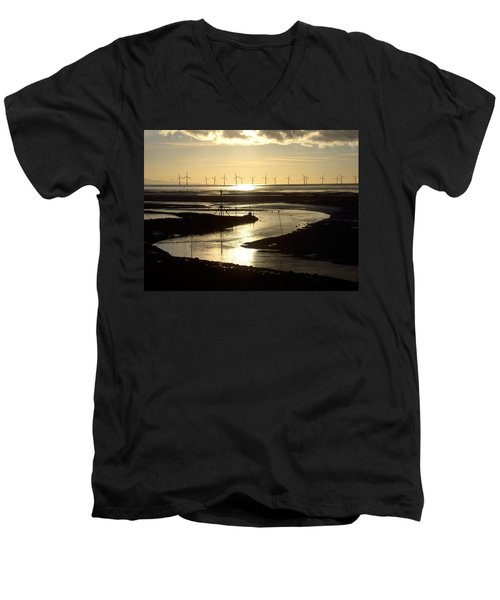 Evening Low Tide  Men's V-Neck T-Shirt