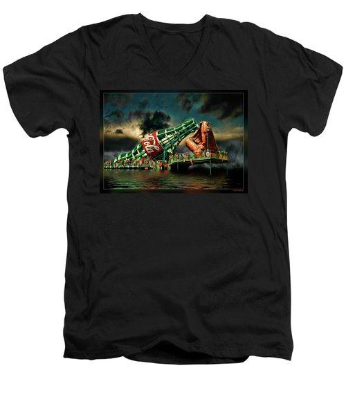 Floating Coke Bottle Men's V-Neck T-Shirt