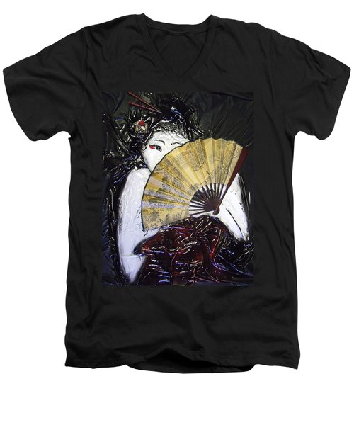 Geisha Girl Men's V-Neck T-Shirt