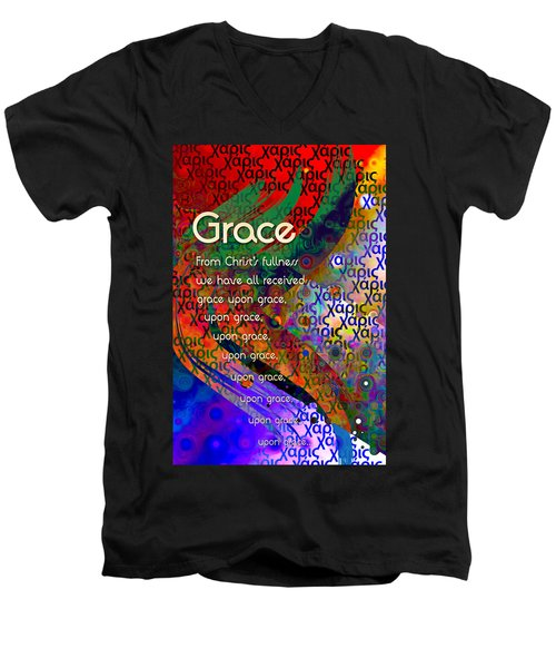 Grace Men's V-Neck T-Shirt by Chuck Mountain