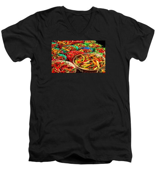 Healthy Chili Peppers Men's V-Neck T-Shirt