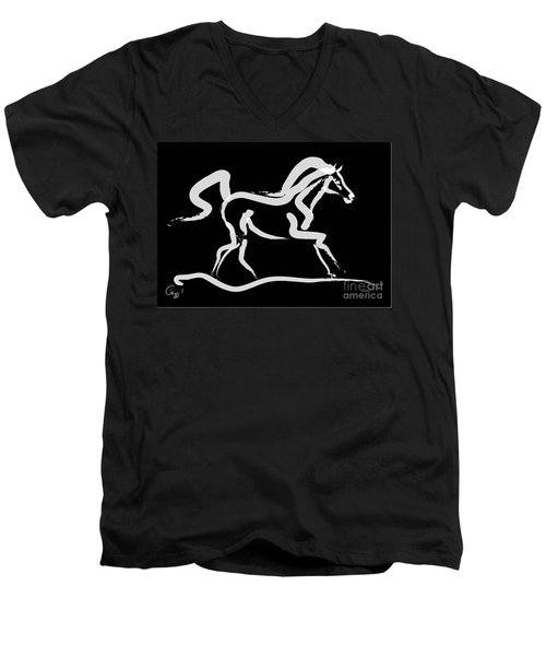 Horse-runner Men's V-Neck T-Shirt