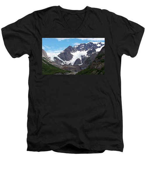 Men's V-Neck T-Shirt featuring the photograph Ice And Snow by Aimee L Maher Photography and Art Visit ALMGallerydotcom