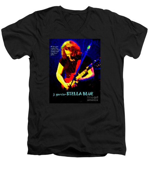 Men's V-Neck T-Shirt featuring the photograph Dust Off Those Rusty Strings by Susan Carella