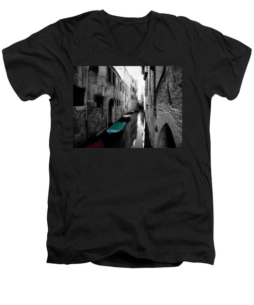 Men's V-Neck T-Shirt featuring the photograph L'aqua Magica by Micki Findlay