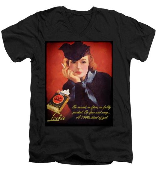 Luckie Men's V-Neck T-Shirt