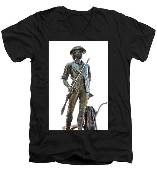 Minute Man Statue Concord Massachusetts Men's V-Neck T-Shirt