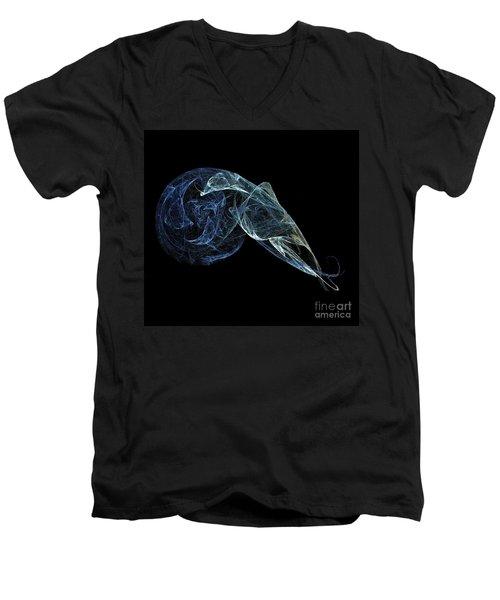 Men's V-Neck T-Shirt featuring the digital art Moonlit Goose by Sara  Raber