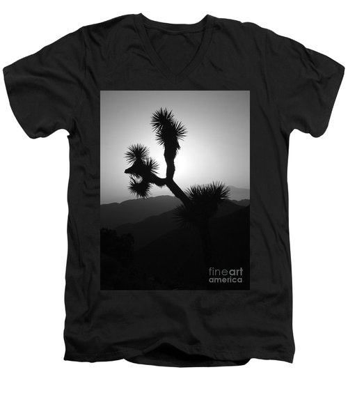 New Photographic Art Print For Sale Joshua Tree At Sunset Black And White Men's V-Neck T-Shirt