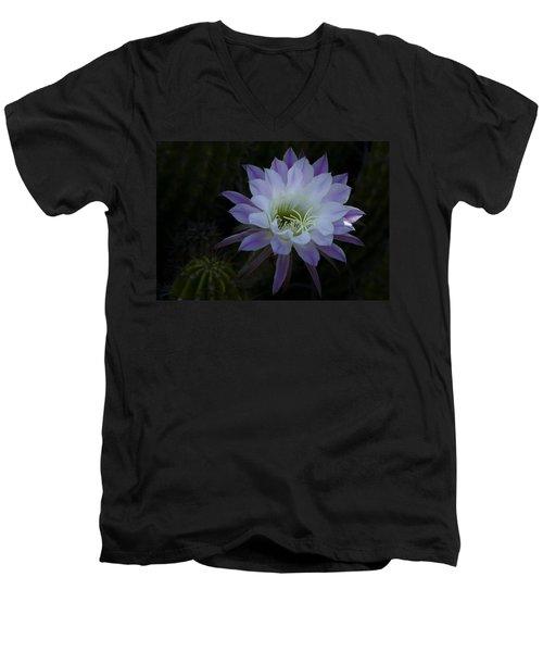 Night Blooming Cactus  Men's V-Neck T-Shirt