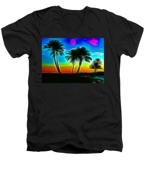Men's V-Neck T-Shirt featuring the photograph Paradise by Tammy Espino