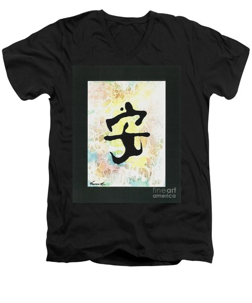 Peace Men's V-Neck T-Shirt
